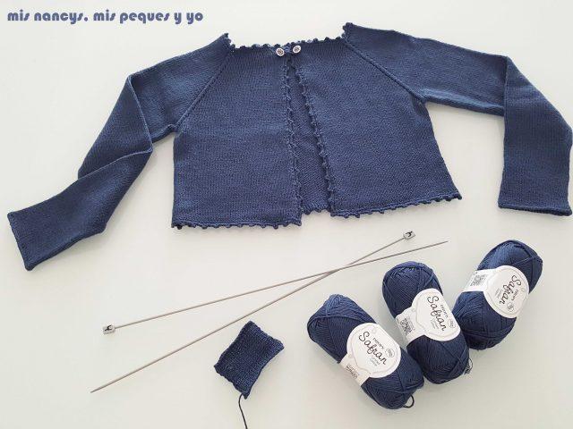mis nancys, mis peques y yo, rebeca de punto para niña, con algodón drops safran