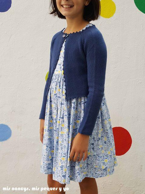 mis nancys, mis peques y yo, rebeca de punto para niña, con vestido everyday dress de cosotela