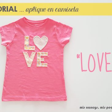"Tutorial aplique en camiseta… ""LOVE"""